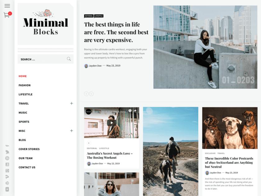 21 Best Minimalist WordPress Themes for 2020! 13