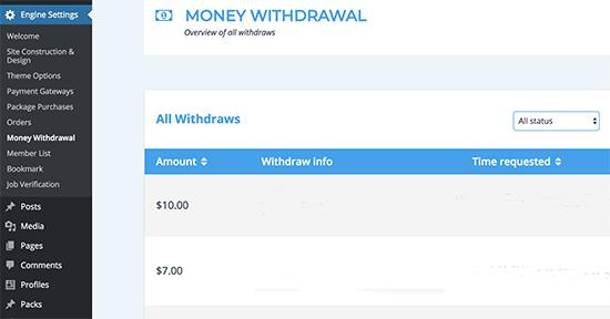 Money Withdrawal