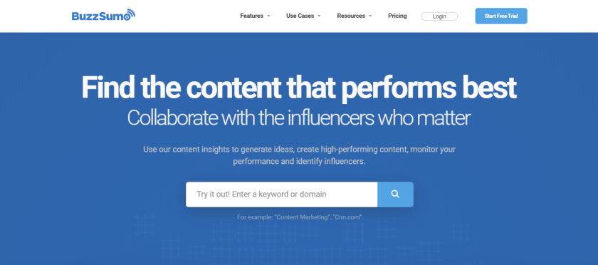 Find your target audience with BuzzSumo