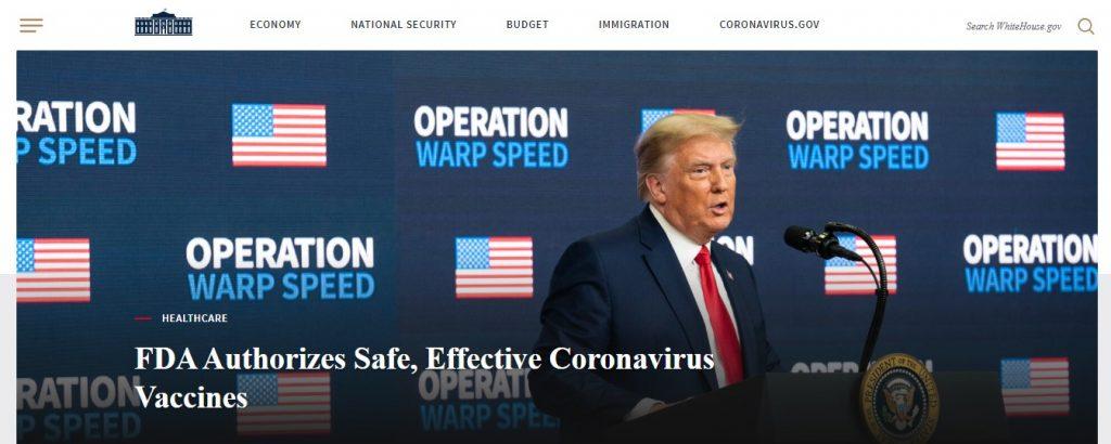 White House uses WordPress With a Dark Mode