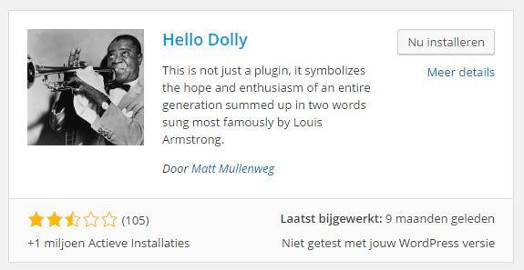 Hello Dolly plugin