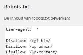robots.txt in WordPress