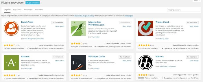 wordpress plugin installeren