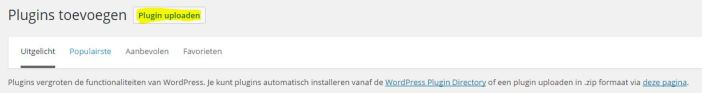 wordpress plugin uploaden