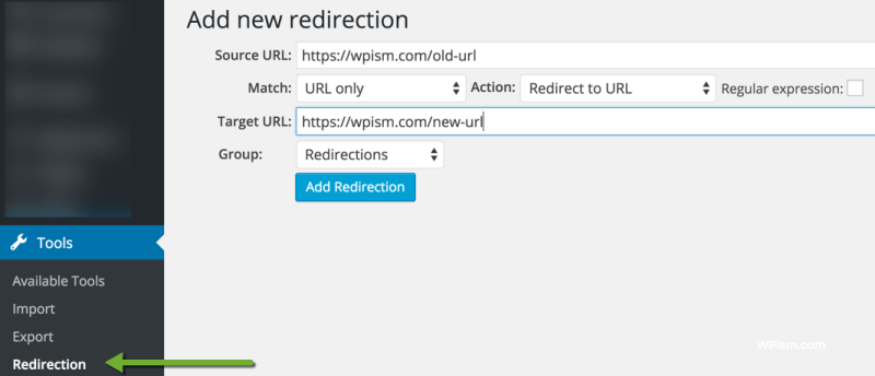 Add New Redirection WordPress Plugin