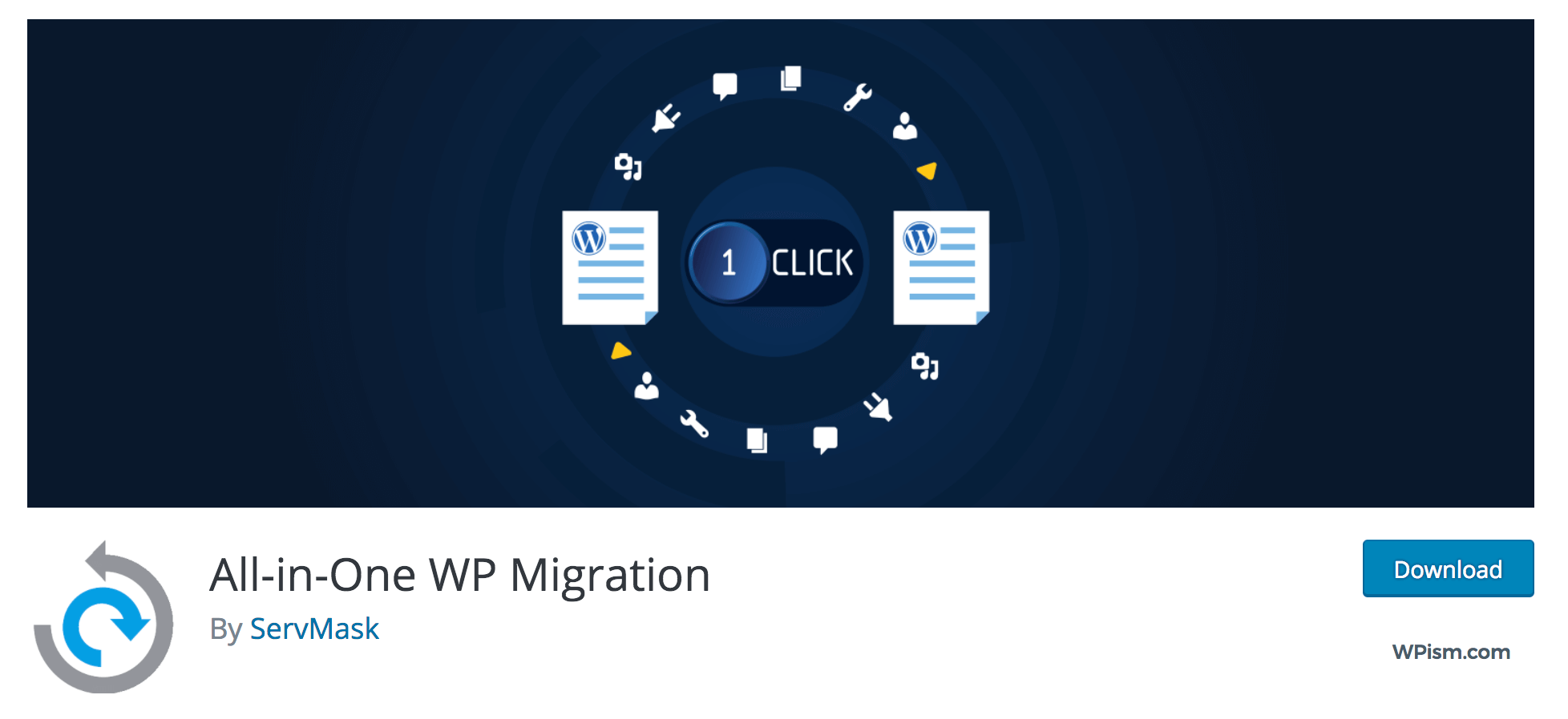 All-in-One WP Migration By ServMask