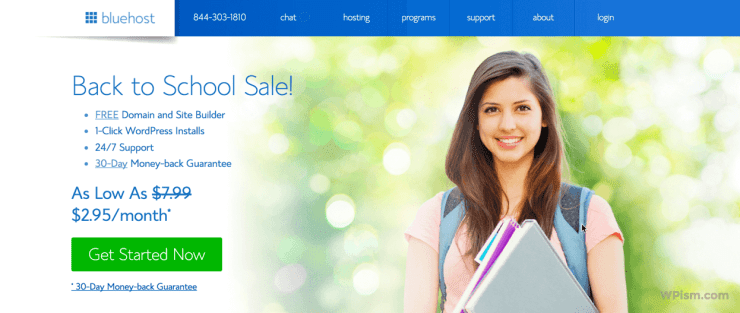 Bluehost Coupon Back to School Deal 2017