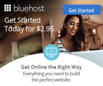 Bluehost Discount coupon code sidebar