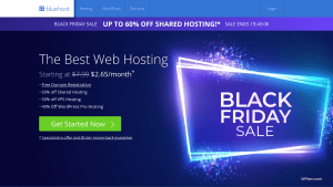 Bluehost hosting Black Friday Deal