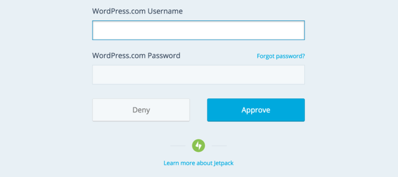 Connecting Jetpack Plugin with WordPress