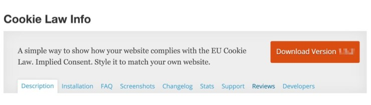 Cookie Law Info WordPress Plugin