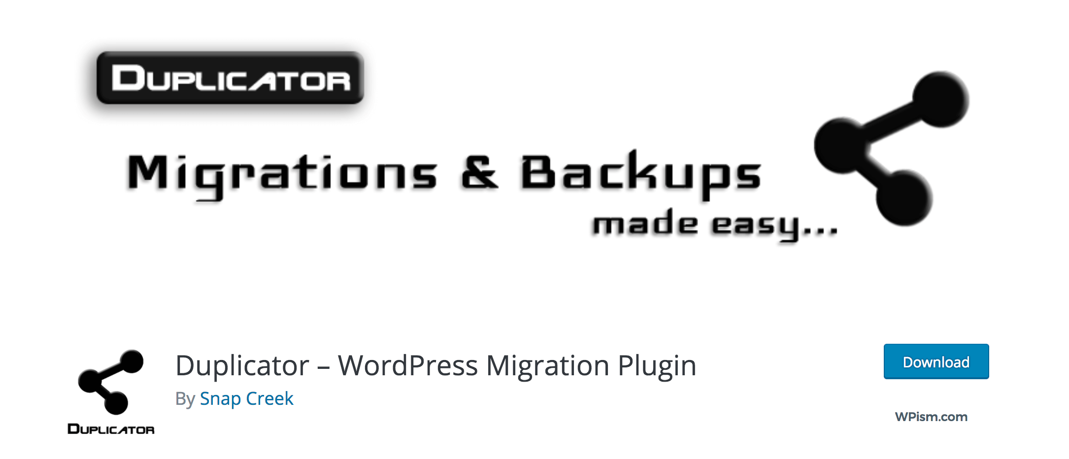Duplicator WordPress Plugin Migration Plugin