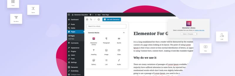Elementor Gutenberg WordPress Plugin Official Download