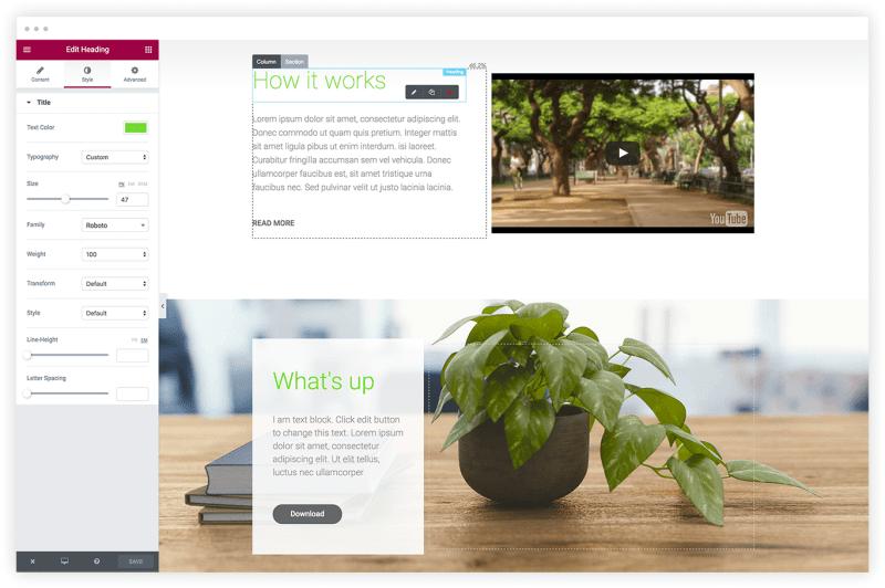 Elementor WordPress Plugin Design