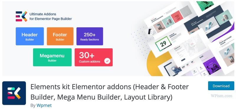 Elements kit Free Elementor addons
