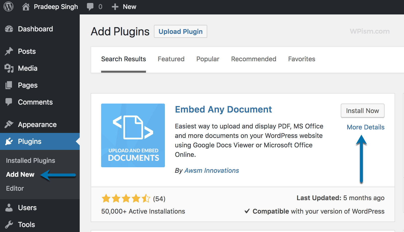 Embed Any Document WordPress Plugin to embed PDF Files
