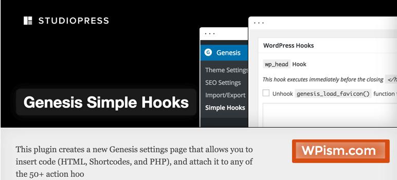 Genesis Simple Hooks Plugin WordPress