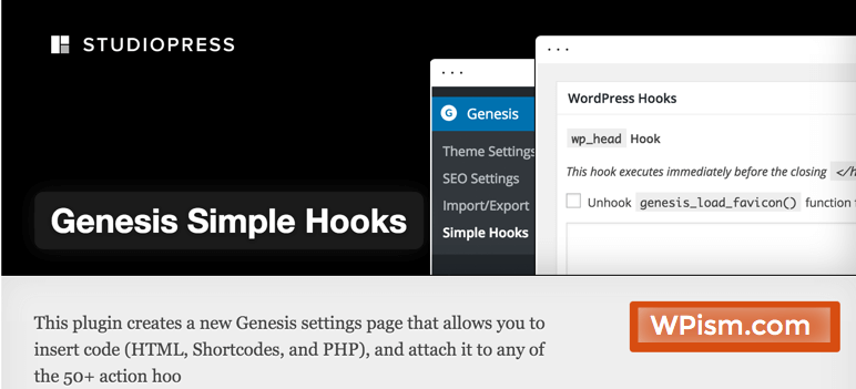 Genesis Simple Hooks Plugin WordPress