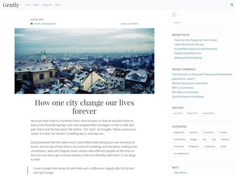 Gently By greg24 WordPress theme