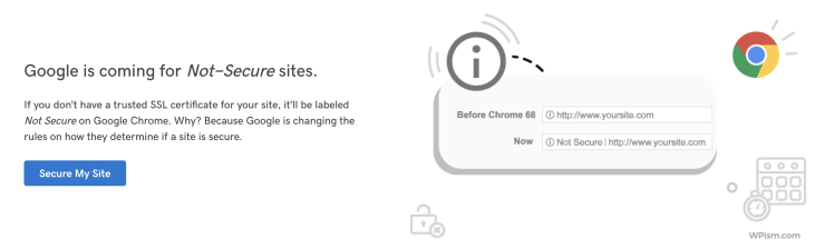 GoDaddy Secure SSL Not Secure Remove Warning Chrome
