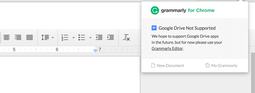 Grammarly on Google Docs