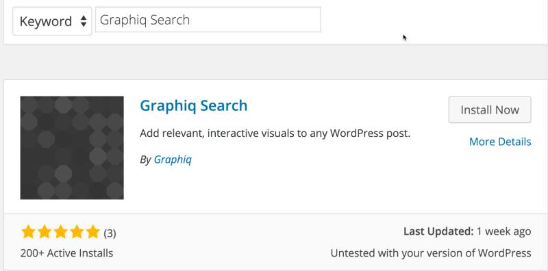 Graphiq Search WordPress Plugin