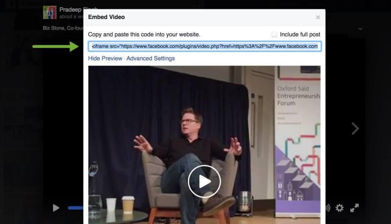 Iframe Code for Embed Facebook Live videos