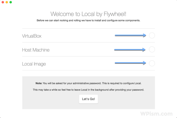 Local by Flywheel WordPress Tool configure components