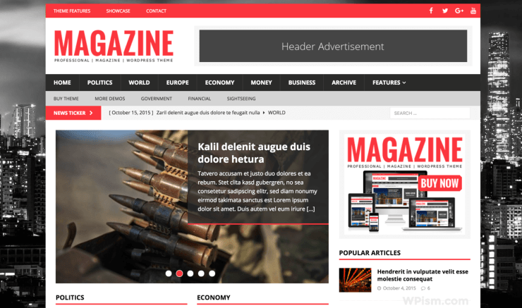 MH Magazine WordPress Theme for Adsense Theme