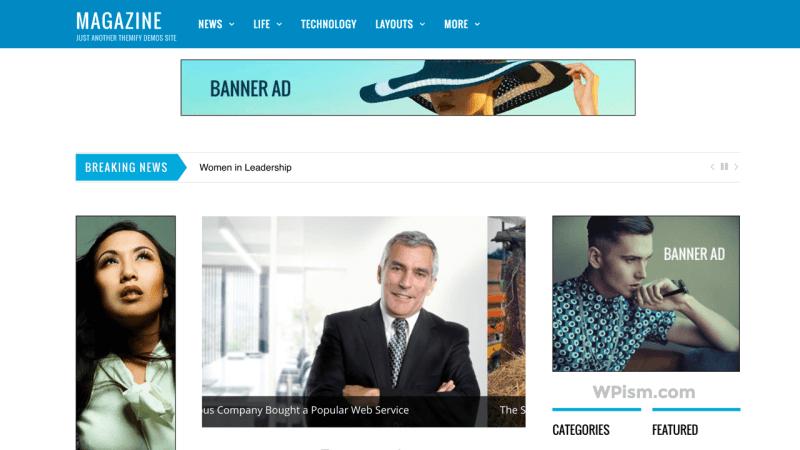 Magazine Themify AdSense Optimized WordPress Theme