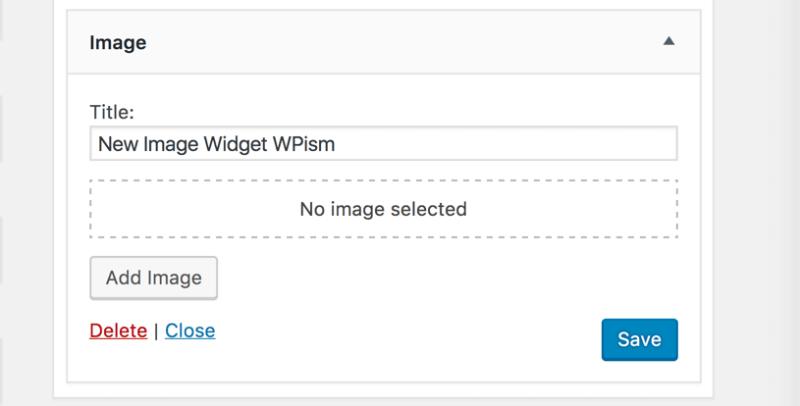 New Image Widget WordPress 4.8