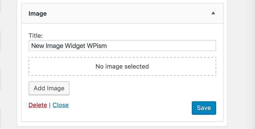 New Image Widget WordPress 4.8