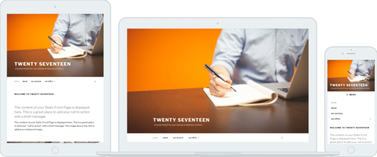 New Twenty Seventeen WordPress Theme 2017