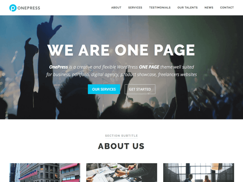OnePress By Fame Themes WordPress Theme
