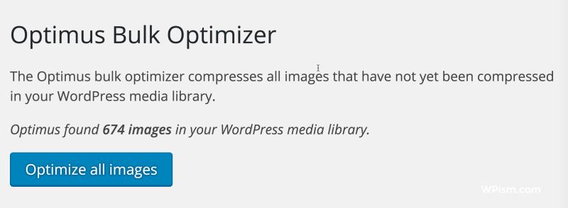 Optimus Bulk Image Optimizer