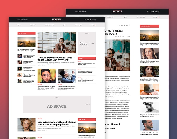 Outspoken WordPress Theme MyThemeShop