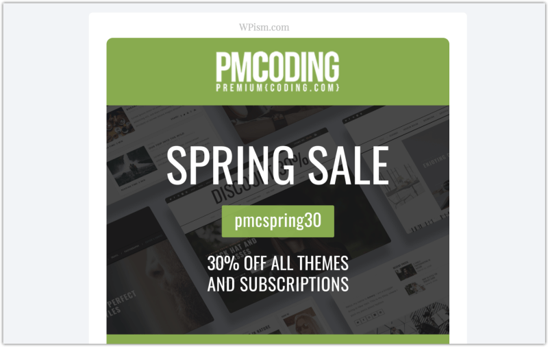 PremiumCoding Coupon Sale Themes