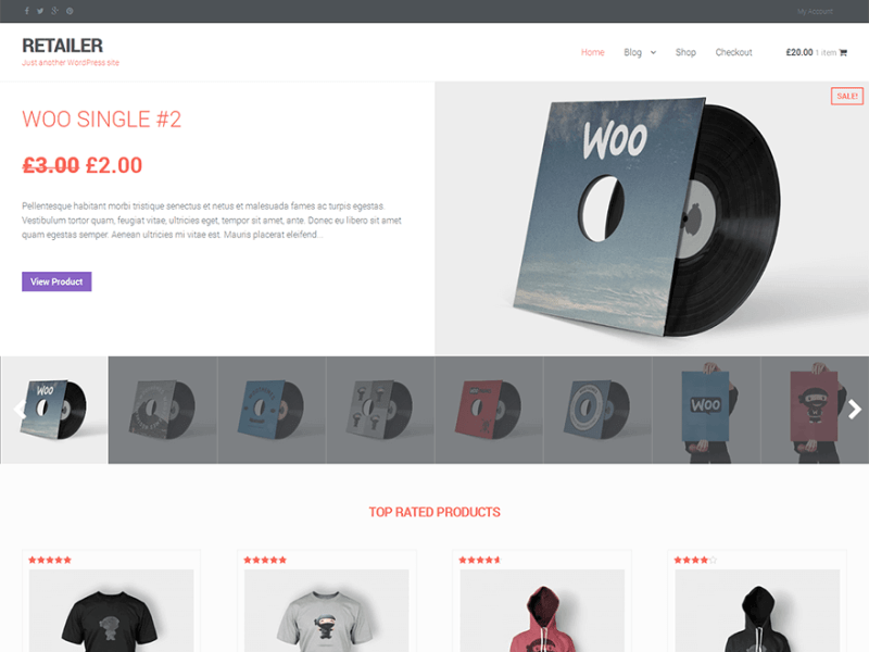 RETAILER By WP Dev Shed WordPress theme