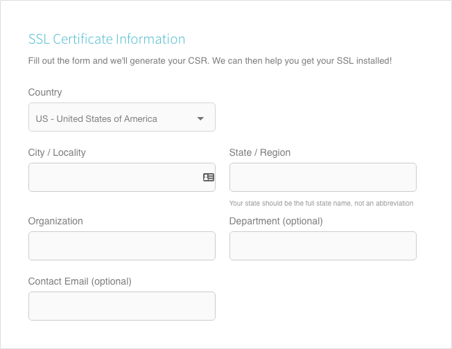 SSL Certificate Information for Flywheel