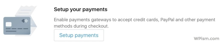 Setup Payments Shopify WordPress