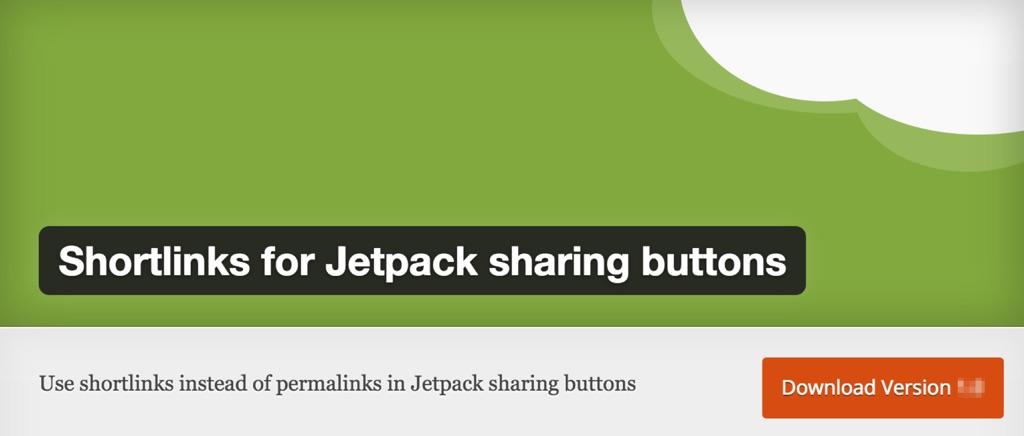 Shortlinks for Jetpack Sharing Buttons Plugin