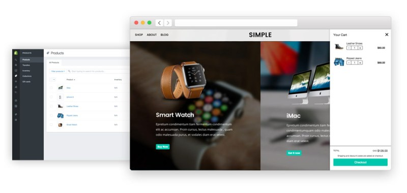 Simple WordPress Shopify Theme