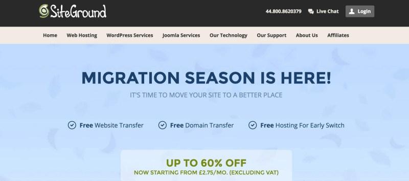 SiteGround Hosting Migration Deal