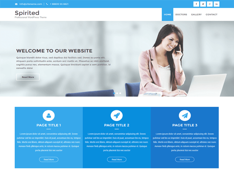 Spirited Lite By SKTThemes WordPress Theme