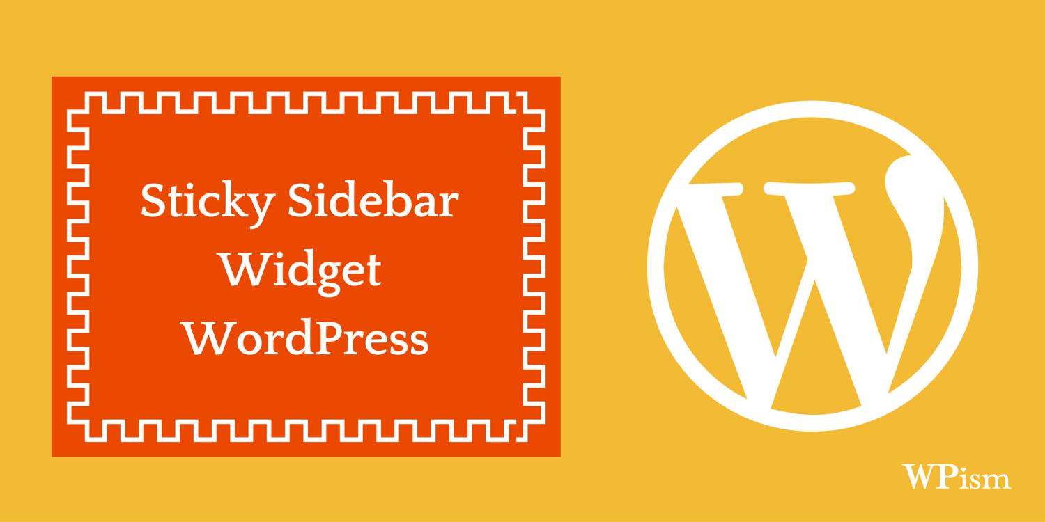 Sticky Sidebar WordPress