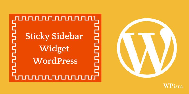Sticky Sidebar WordPress