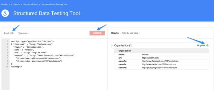 Structured Data Testing Tool Rich Snippets WordPress