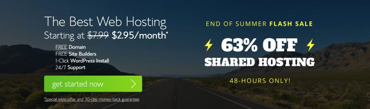 summer flash sale bluehost coupon