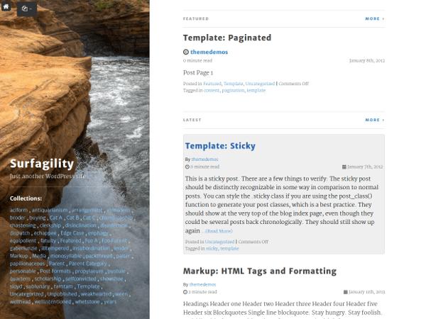 Surfagility WordPress Theme Medium