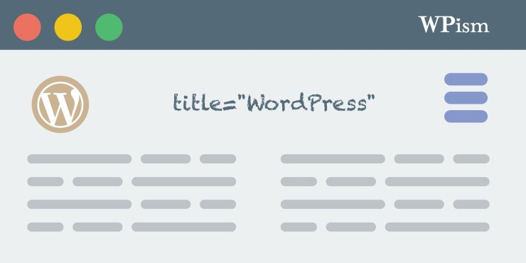Title Attribute For Menu Items in WordPress